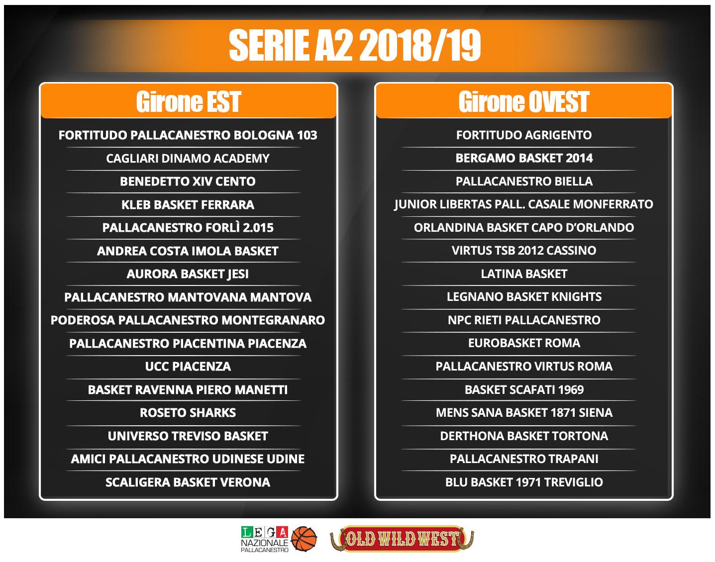 Fortitudo Calendario.Serie A2 Stagione 2018 19 Ecco La Composizione Dei Gironi